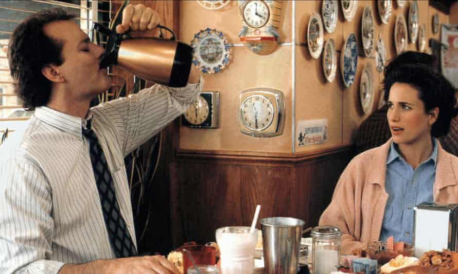 Bill Murray and Andie MacDowell in Groundhog Day.