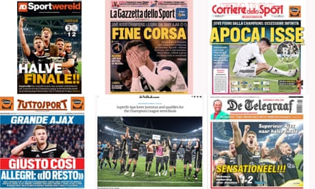 'Ajax, the sensation of Europe': Dutch and Italian press react to Turin triumph