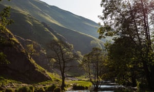 Looking along the valley at Dovedale in the Peak District