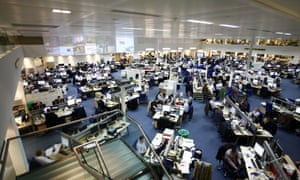 The Daily Telegraph's 'integrated' newsroom.