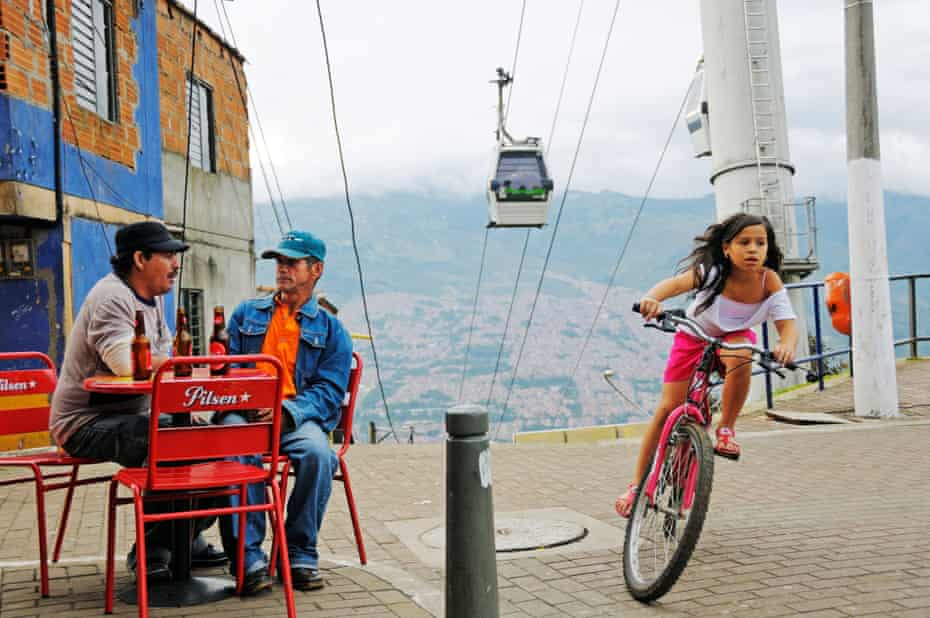 Cable cars and escalators now carry tens of thousands of people a day between Medellín's comunas and the city centre.