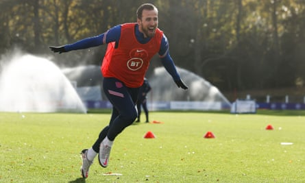Harry Kane in England training on 12 November 2020
