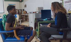 Ke'Shawn Kumsa and Jessica Stovall in a still from America to Me.