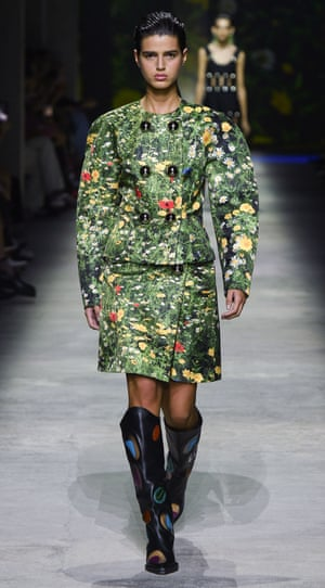 Wild meadow outfit on the Christopher Kane runway