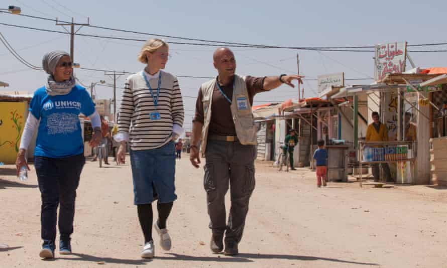 Cate Blanchett during a visit to Jordan.