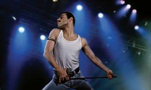 Stop me now … Rami Malek in Bohemian Rhapsody.