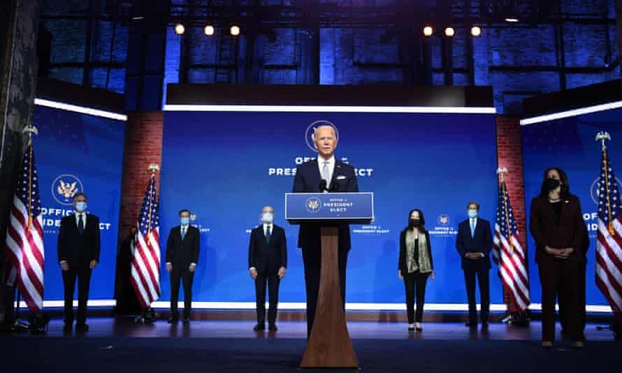 Joe Biden announces his national security team in Wilmington, Delaware, 24 November 2020.