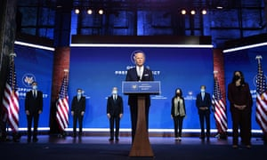 US President-elect Joe Biden speaks during a cabinet announcement event in Wilmington, Delaware, on November 24, 2020.