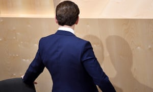 Sebastian Kurz leaves his seat after losing a confidence vote in the Austrian parliament.