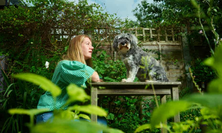 Peanut and Harriet Green's dog and Louise Glazebrook