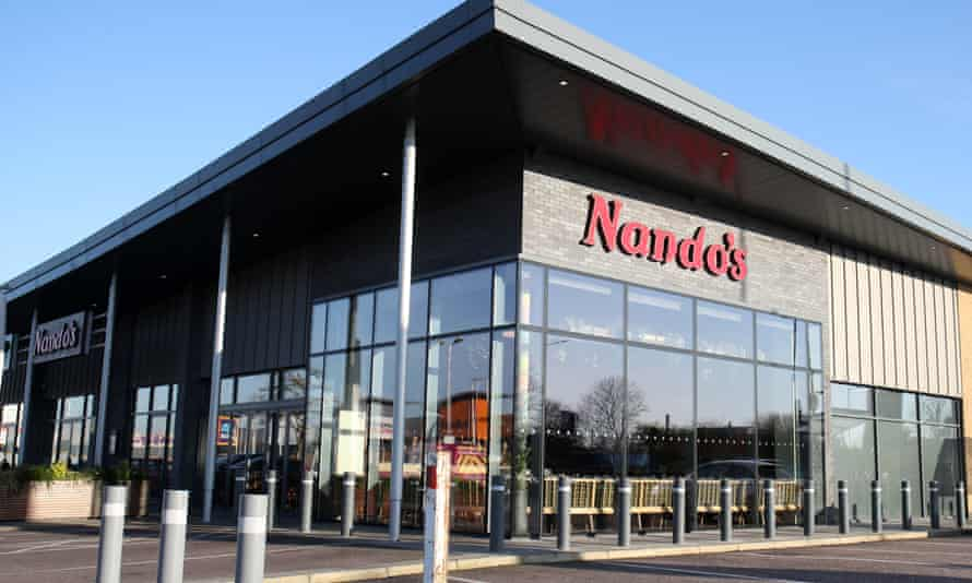 A closed branch of Nando's in north London in March