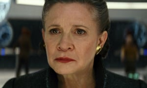 Calling the shots ... Carrie Fisher as General Leia Organa.