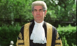 Lord Justice Brooke in wig