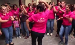People dancing in Tarek Abdala's campaign video.