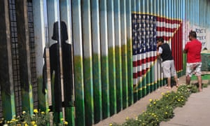 A mural on the border fence in Tijuana. A Border Patrol spokesman declined to say why the agency changed the visitation policy.