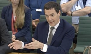 George Osborne giving evidence to the Commons Treasury committee