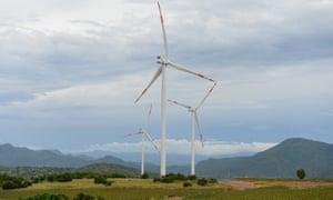 Turbines at Phu Lac windfarm in Vietnam