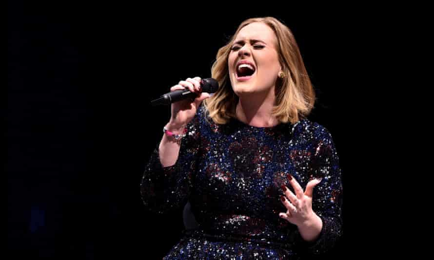 Adele Performs At the SSE Hydro in Glasgow on Friday night.