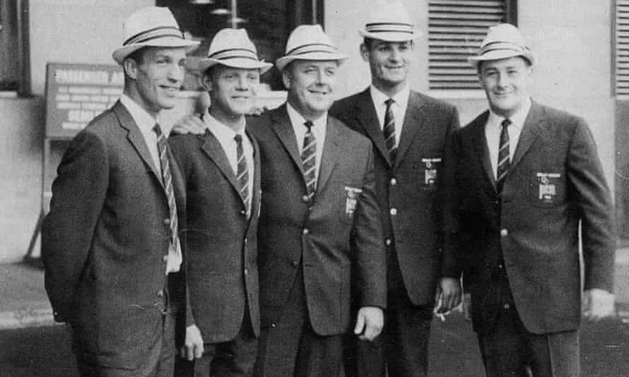 Syd Hoare, left, with other members of the British Olympic judo team in 1964
