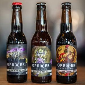 oproer brewery bottled beers
