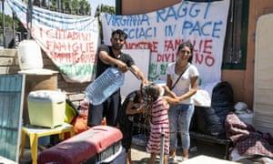 Roma camp.