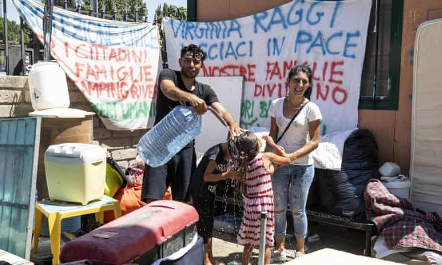 Roma camp in Rome.