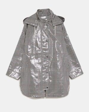 Checked waterproof trench coat, £79.99, Zara