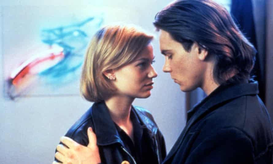 With Samantha Mathis in The Thing Called Love, 1993.
