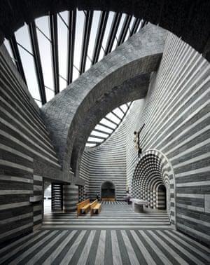 Church of San Giovanni Battista, Mogno, Switzerland,1996, Mario Botta.