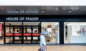 House of Fraser in Sutton Coldfield.