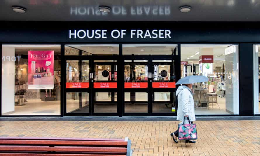 House of Fraser store in the Gracechurch Shopping Centre in Sutton Coldfield
