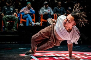 Eindhoven, The NetherlandsDancers perform during the Breakdance World Cup. The winner can call himself World B-Boy Classic champion for a year.