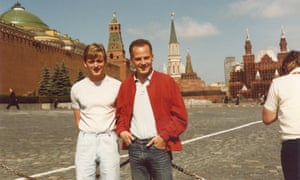 With Paul Cottingham on a trip to Moscow in 1985