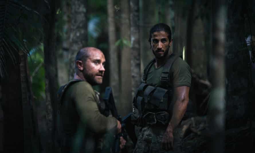 Two soldiers in the jungle
