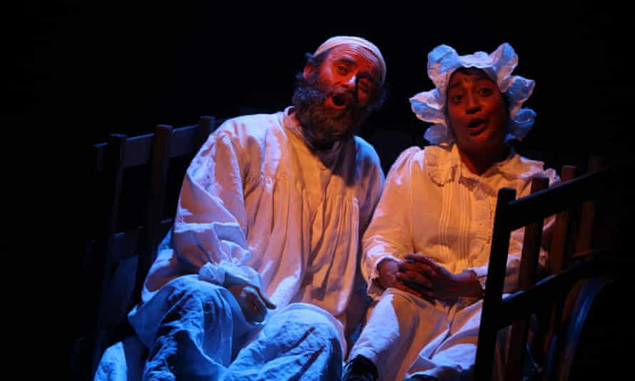 Patrick Brennan and Melanie La Barrie in Fiddler on the Roof.