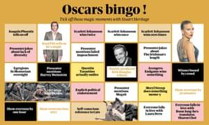 No fat ladies … our Oscars bingo.