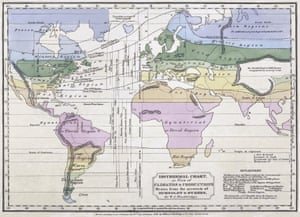 Isothermal map of the world, using Humboldt's data. By William C Woodbridge, 1823.