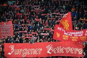 Liverpool fans before the Champions League quarter-final against Porto in April 2019.