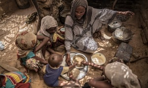 Family meal in Chad