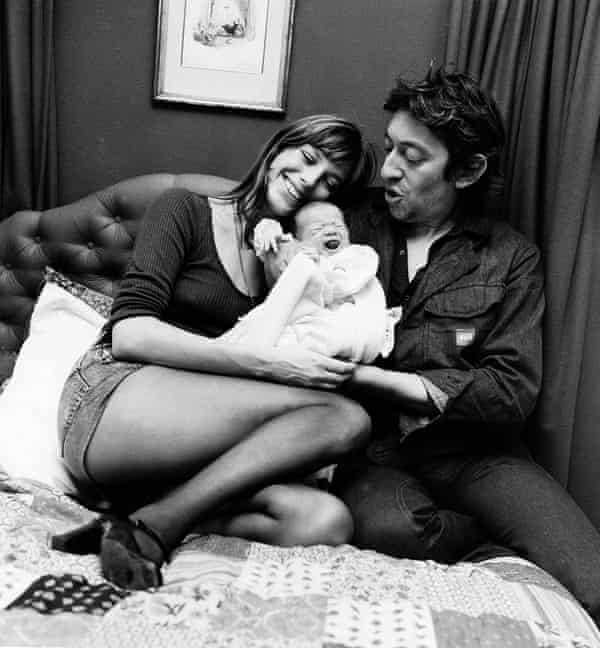 Jane Birkin and Serge Gainsbourg with Charlotte in 1971.