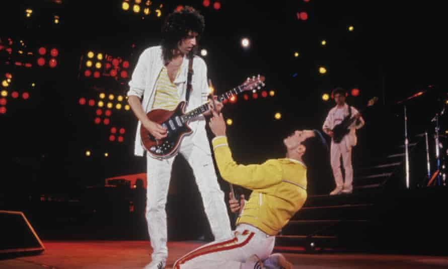 They will rock you .... Freddie Mercury and Brian May of Queen.