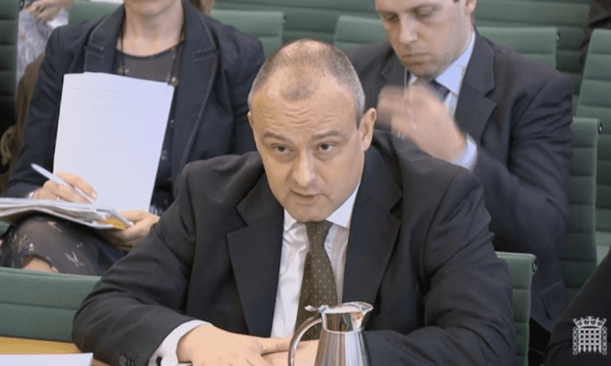 Hugh Ind was questioned by the home affairs committee over removal targets.