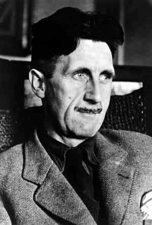 "Literature. Personalities. pic: circa 1940's. British author George Orwell, (1903-1950) among his many books were ""Ninteen Eighty Four"" and Animal Farm"".Literature, Personalities, pic: circa 1940's, British author George Orwell, (1903-1950) among his many books were ""Ninteen Eighty Four"" and Animal Farm"" (Photo by Popperfoto/Getty Images)"