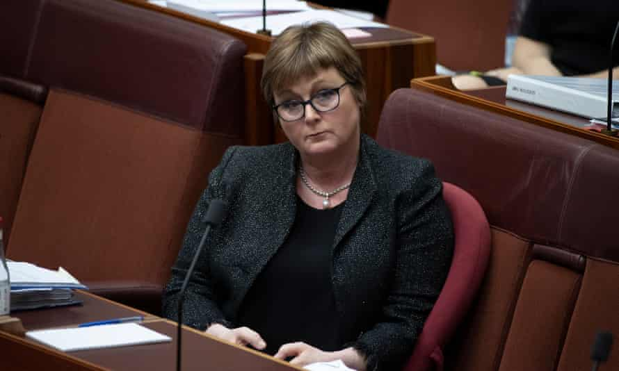 The minister for Defence Linda Reynolds during question time in the Senate on Tuesday.