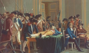 Maximilien Robespierre<br>Portrait of the arrest & wounding of French Revolutionary and member of the Committee of Public Safety, Maximilien Robespierre (1758-1794) who was sent to the guillotine in 1794.  (Photo by Time Life Pictures/Mansell/Time Life Pictures/Getty Images)