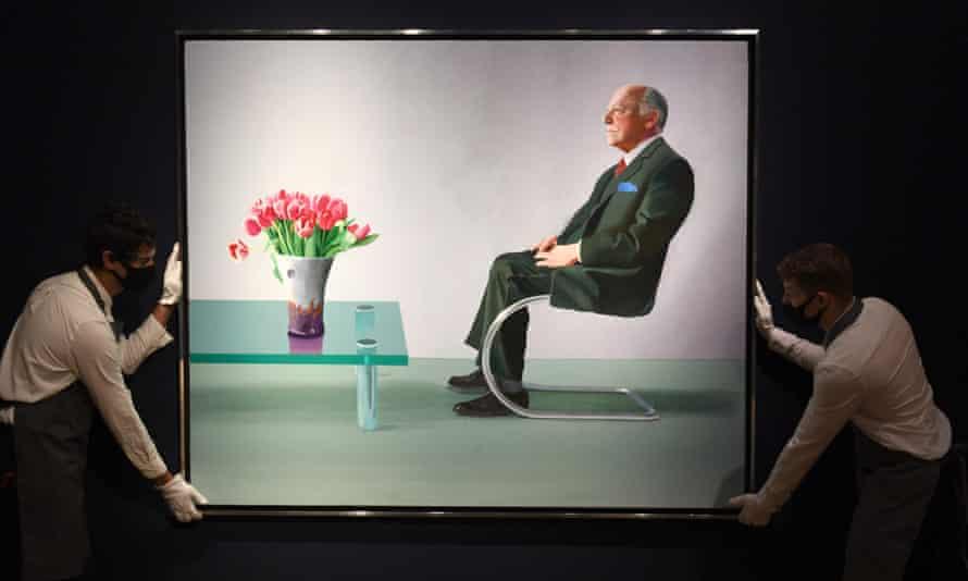 پرتره دیوید هاکنی از سر دیوید وبستر ، 1971 ، شامل میز شیشه ای Altra آرام ، در سال 2020 به قیمت 12.9 میلیون پوند فروخته شد.