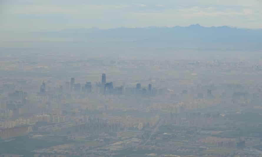 Smog over the Beijing skyline