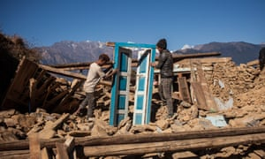 Guesthouse owners rebuilding a village in Langtang national park.