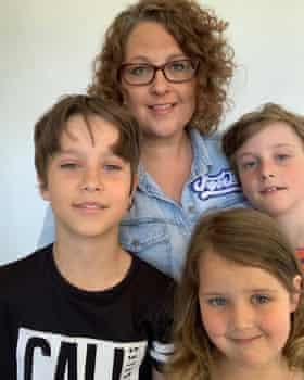 Samantha Bailey and her children