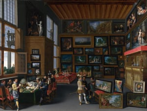 Cognoscenti in a Room Hung With Pictures circa 1620 by an unknown Flemish artist